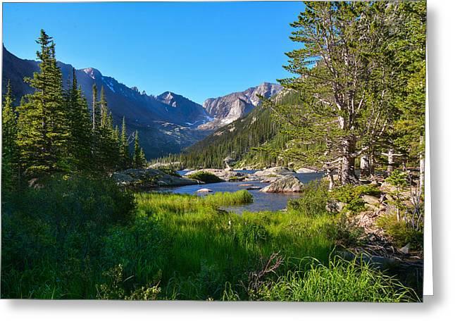 Mills Glacier Greeting Cards - Mills Lake Splendor   Greeting Card by Melanie Bellis