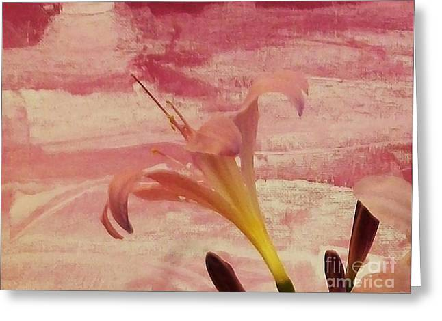 Flower Photos Mixed Media Greeting Cards - Milly Lilly Greeting Card by Marsha Heiken