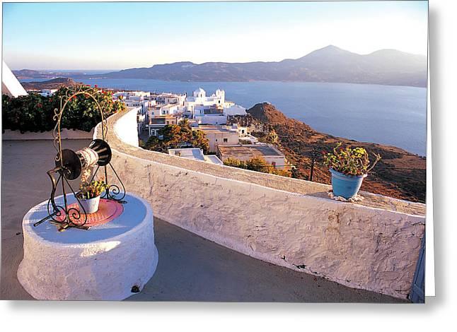 Aphrodite Of Milos Greeting Cards - Milos island 01 Greeting Card by Manolis Tsantakis