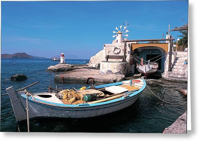 Aphrodite Of Milos Greeting Cards - Milos island 03 Greeting Card by Manolis Tsantakis