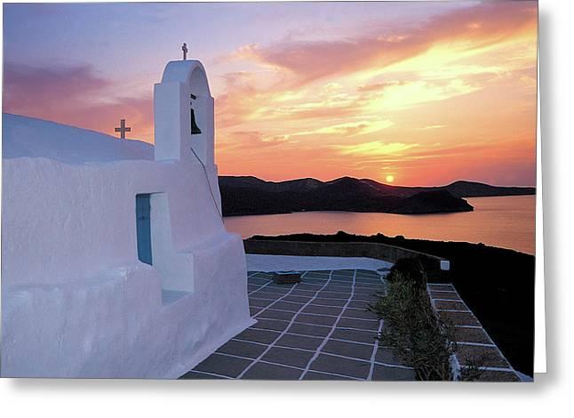 Aphrodite Of Milos Greeting Cards - Milos island 2 Greeting Card by Manolis Tsantakis