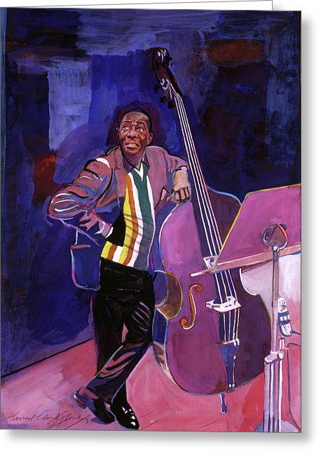 All Star Greeting Cards - Milt Hinton Jazz Bass Greeting Card by David Lloyd Glover