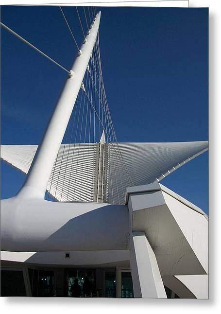 Comtemporary Art Greeting Cards - Milwaukee Art Museum cropped Greeting Card by Anita Burgermeister