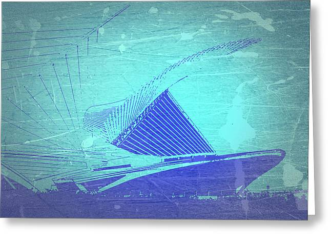 Milwaukee Art Museum Greeting Cards - Milwaukee Art Museum Greeting Card by Naxart Studio