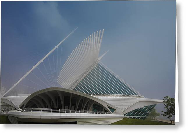 Boys Of Summer Greeting Cards - Milwaukee Museum of Art Milwaukee Wisconsin Blue 1 Greeting Card by David Haskett
