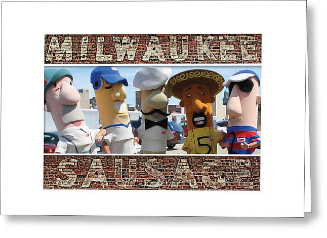 Milwaukee Sausages Greeting Card by Geoff Strehlow