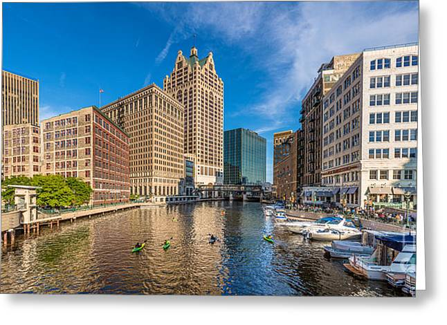 Milwaukee Summer Nights Greeting Card by Andrew Slater