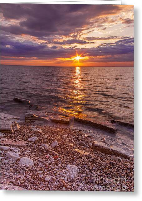 North Point Greeting Cards - Milwaukee Sunrise Point Greeting Card by Andrew Slater