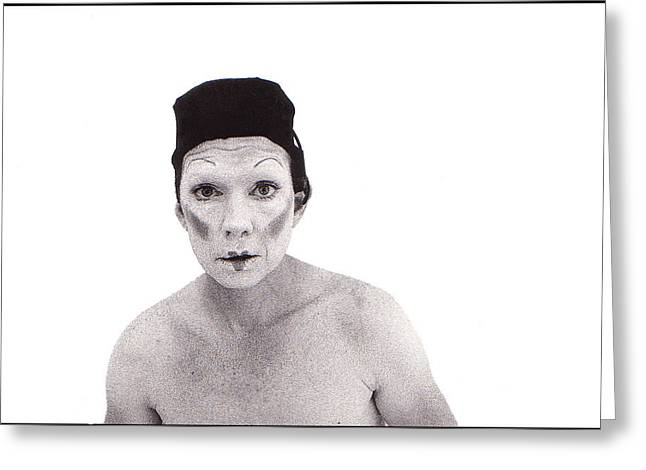 Mimes Greeting Cards - Mime Greeting Card by Robert Ullmann