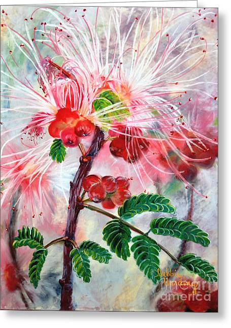 Berry Pastels Greeting Cards - Mimosa Bling Greeting Card by Debbie Harding