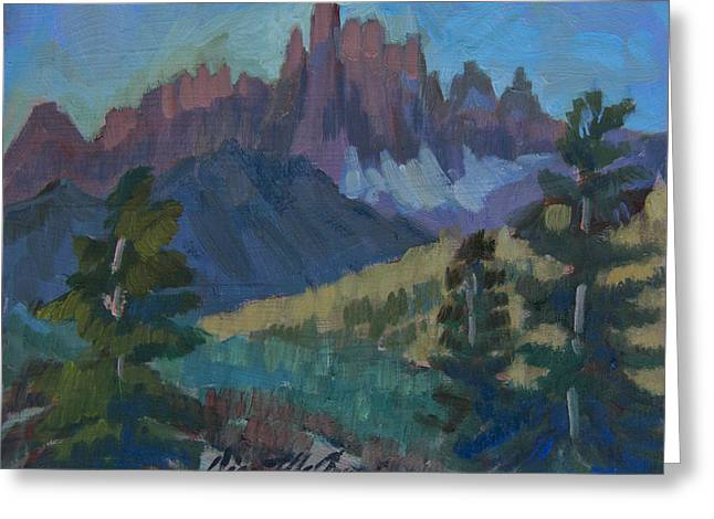 Minarets Vista At Mammoth Mountain Greeting Card by Diane McClary
