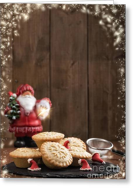 Santa Hat Greeting Cards - Mince Pies Greeting Card by Amanda And Christopher Elwell