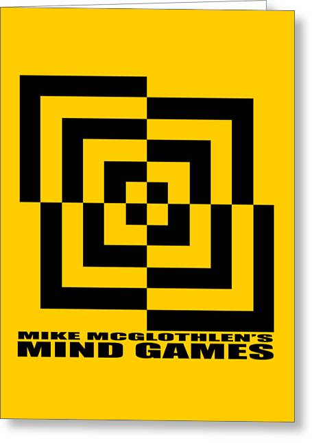 Vertical Drawings Greeting Cards - Mind Games 10SE Greeting Card by Mike McGlothlen