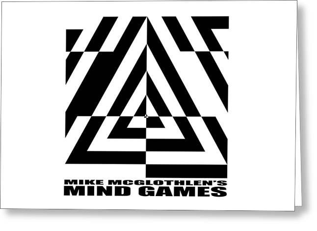 Vertical Drawings Greeting Cards - Mind Games  21SE Greeting Card by Mike McGlothlen