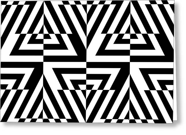 Rectangles Drawings Greeting Cards - Mind Games 22 Greeting Card by Mike McGlothlen
