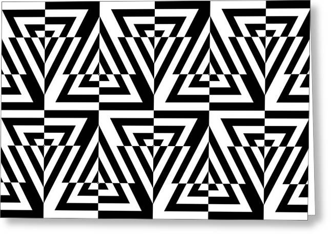 Optical Art Drawings Greeting Cards - Mind Games 23 Greeting Card by Mike McGlothlen