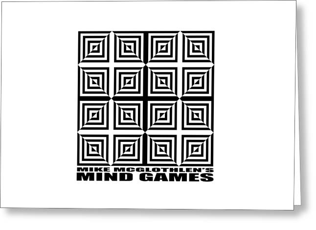 T Shirts Drawings Greeting Cards - Mind Games 28SE Greeting Card by Mike McGlothlen