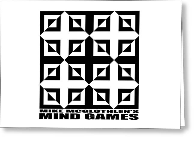 T Shirts Drawings Greeting Cards - Mind Games 37SE Greeting Card by Mike McGlothlen