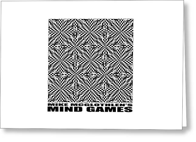 Vertical Drawings Greeting Cards - Mind Games 61SE 2 Greeting Card by Mike McGlothlen