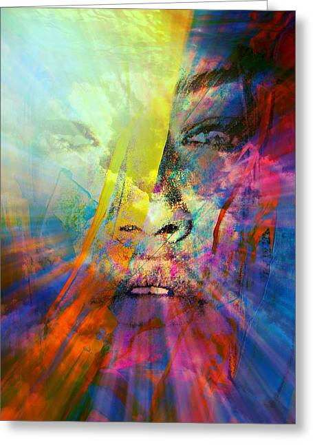 Sunset Abstract Greeting Cards - Mind Over Matter Greeting Card by Richard Ray