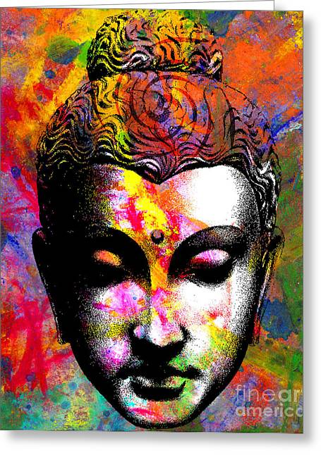 Buddhism Digital Art Greeting Cards - Mind Greeting Card by Ramneek Narang