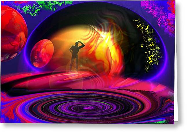 Deliberation Greeting Cards - Minds Eye View Greeting Card by Steven Wiley