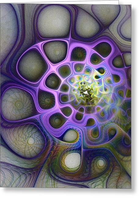 Fractal Art Greeting Cards - Mindscapes Greeting Card by Amanda Moore
