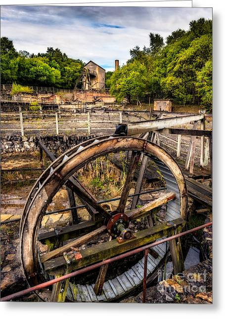 Mine Wheel Greeting Card by Adrian Evans