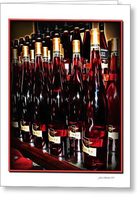 Miner Pink Sparkling Wine Greeting Card by Joan  Minchak