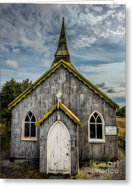 Dilapidated Greeting Cards - Minera Parish Greeting Card by Adrian Evans