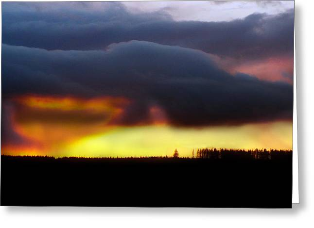 Minera Sunset 2 Greeting Card by Brainwave Pictures