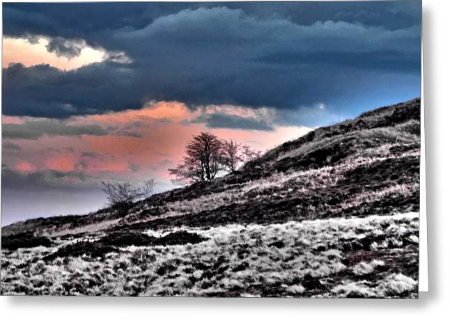 Minera Sunset 3 Greeting Card by Brainwave Pictures