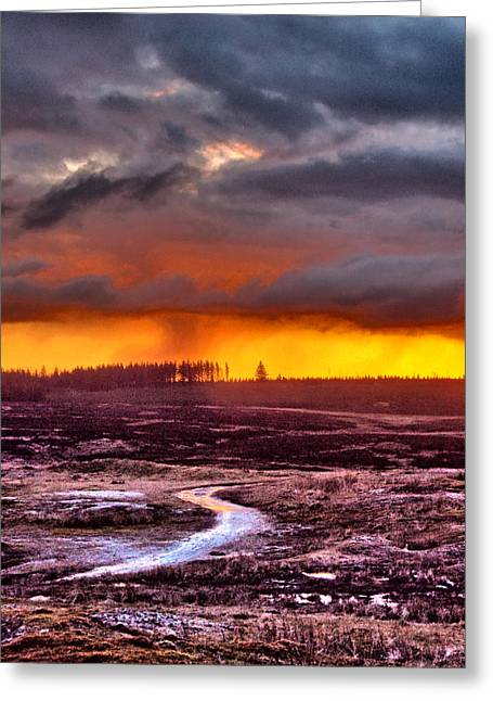Minera Sunset 4 Greeting Card by Brainwave Pictures