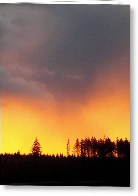 Minera Sunset Greeting Card by Brainwave Pictures