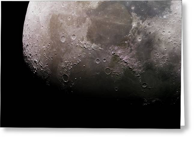 Mineral Moonscape Greeting Card by Manuel Huss