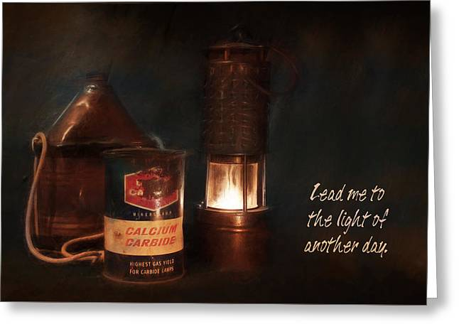 Canteen Greeting Card featuring the photograph Miner's Essentials by Lori Deiter