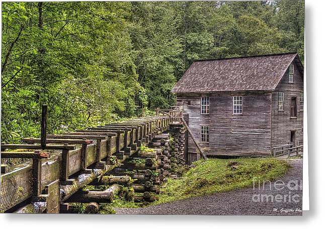 Grist Mill Greeting Cards - Minges Mill Greeting Card by Mike Griffiths