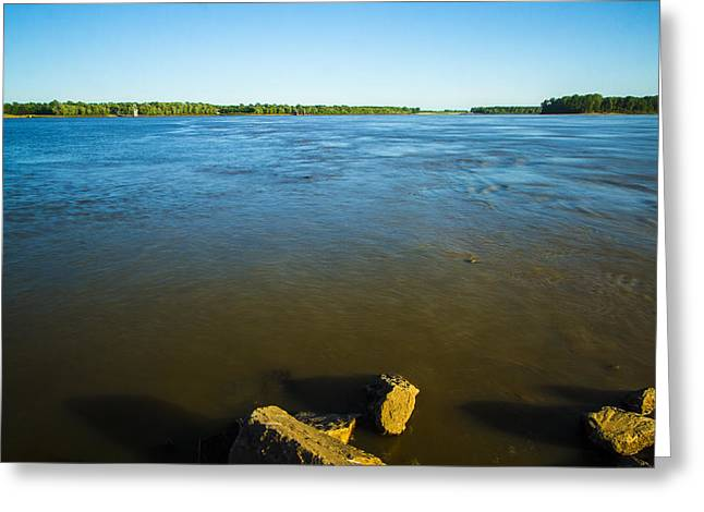 Mingle Greeting Cards - Mingling of the waters Greeting Card by Garry McMichael