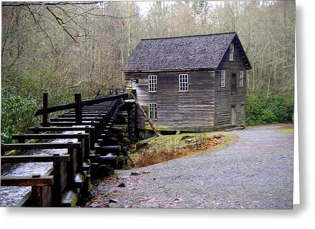 Great Smokey Mountains Greeting Cards - Mingus Mill Greeting Card by Marty Koch