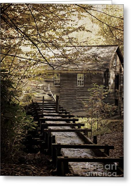 Tennessee Landmark Greeting Cards - Mingus Mill Greeting Card by Tom Gari Gallery-Three-Photography