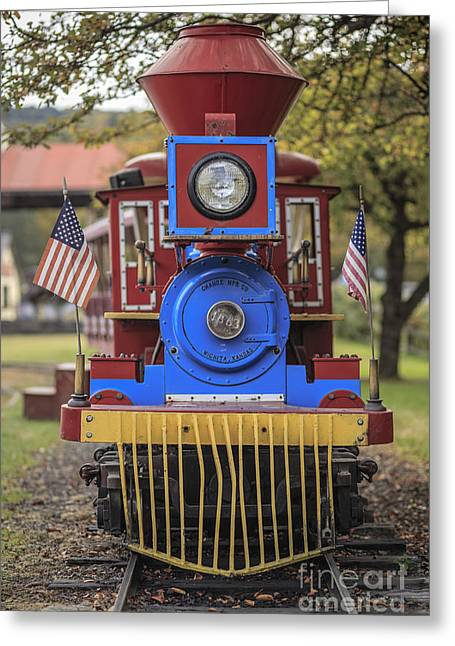 Mini Fun Train Quechee Vermont Greeting Card by Edward Fielding