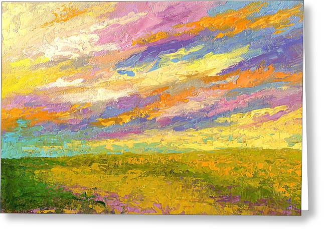 Prairies Greeting Cards - Mini Landscape V Greeting Card by Marion Rose