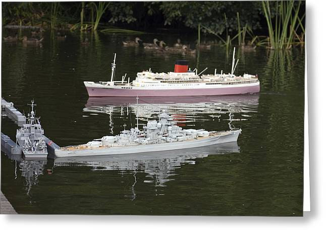 Boat Cruise Greeting Cards - Miniature Boats Greeting Card by Sally Weigand