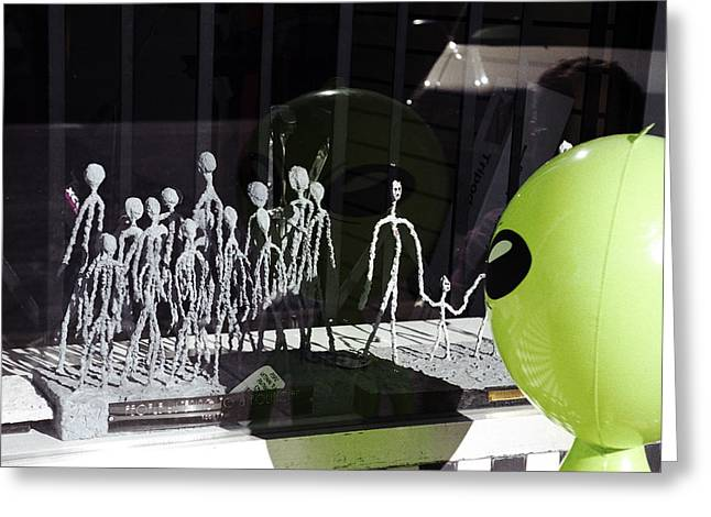 Inflatable Photographs Greeting Cards - Miniature Greys Greeting Card by Richard Henne