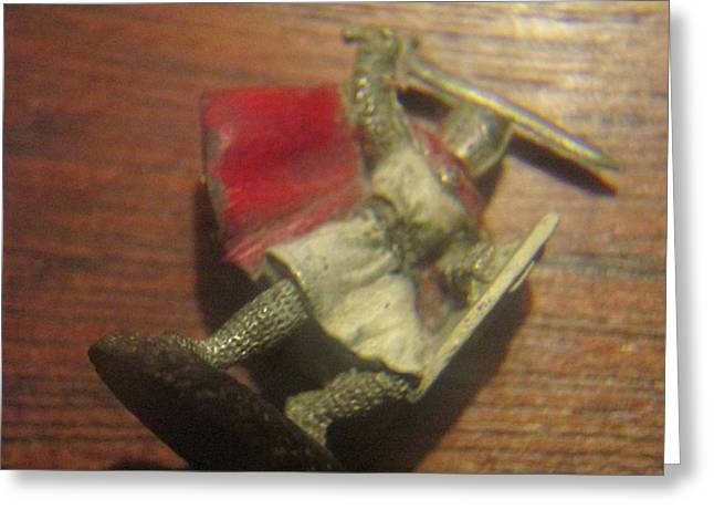 Knighted Sculptures Greeting Cards - Miniature Knight Greeting Card by David Lovins