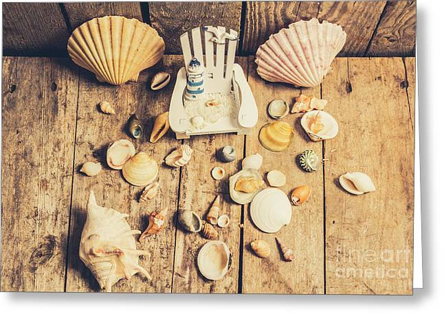 Miniature Sea Escape Greeting Card by Jorgo Photography - Wall Art Gallery