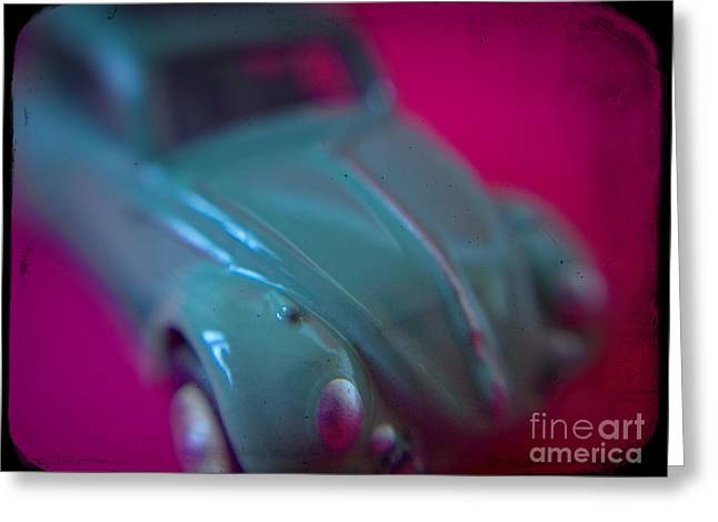 80s Greeting Cards - Miniature Volkswagen Beetle #2 Greeting Card by A Cappellari