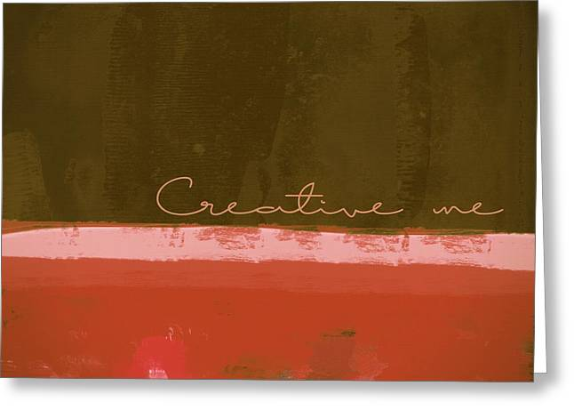 Abstract Digital Digital Greeting Cards - Minima - Creative me - ch201 Greeting Card by Variance Collections