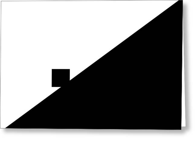 Merging Greeting Cards - Minimalist #2- Entrance Greeting Card by Justin Lamb