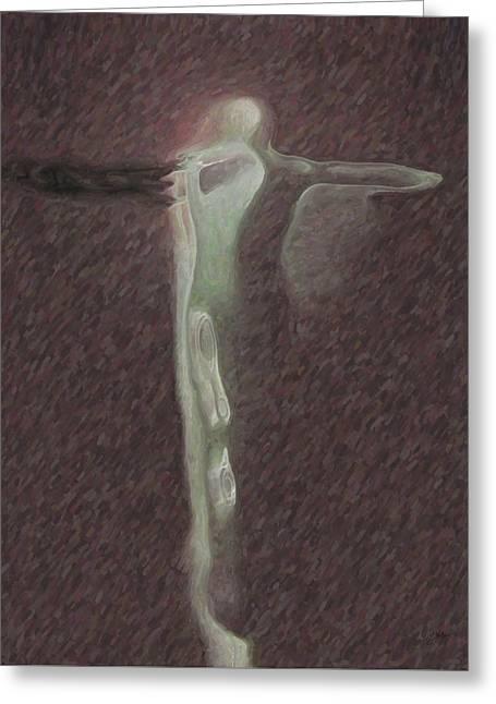 Minimalist Christ Greeting Card by Joaquin Abella
